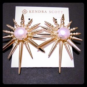 Kendra Scott Gold Sayers Statement Earrings